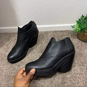 Eileen Fisher Cosmo Crisscross Leather Ankle Boots